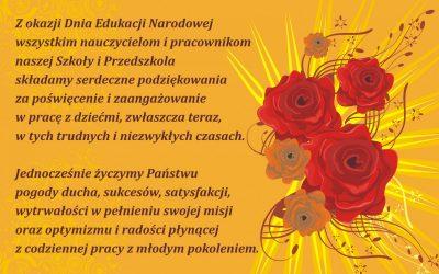 Życzenia z okazji Dnia Komisji Edukacji Narodowej.