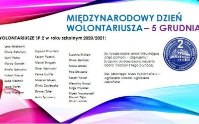 Wolontariusze z naszej szkoły w roku szkolnym 2020/2021