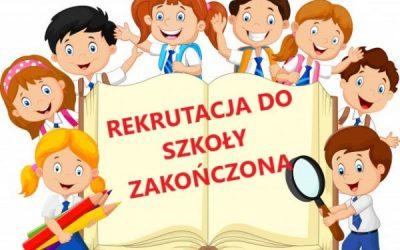 Rekrutacja do szkoły zakończona.